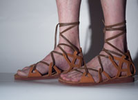 anciant greek sandals